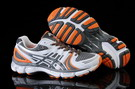 Asics Men's Gel Kayano 18 Light Grey Dark Gray Dark Orange